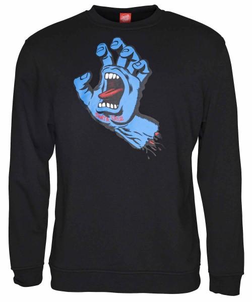 Santa Cruz Screaming Hand Black Sweatshirt für Herren