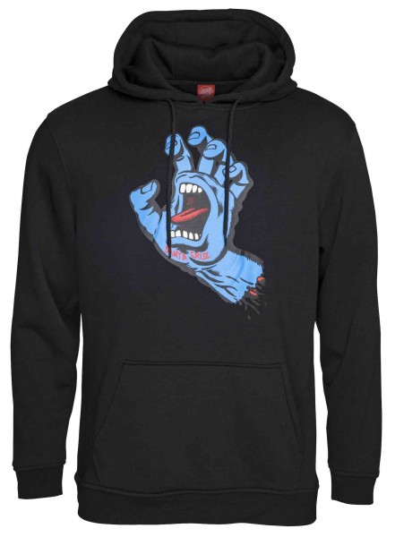 Santa Cruz Screaming Hand Black Hoodie für Herren