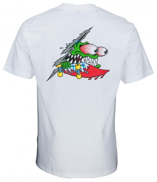 Santa Cruz Slashed White T-Shirt für Herren