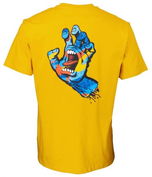 Santa Cruz Primary Hand Mustard T-Shirt für Herren