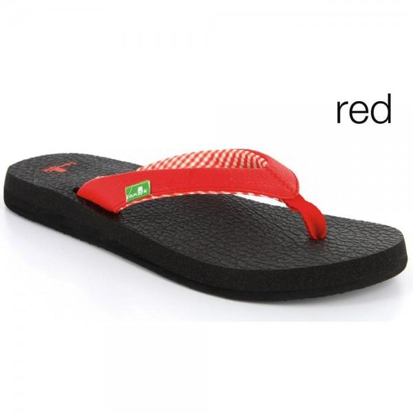 Flip Flops Sanük Women's Yoga Mat Red