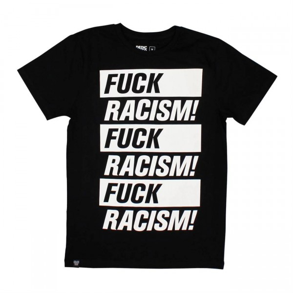 Dedicated Stockholm Fuck Racism T-Shirt für Herren
