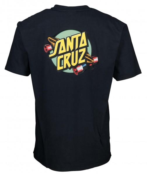 Santa Cruz Summer of 76 Black T-Shirt für Herren