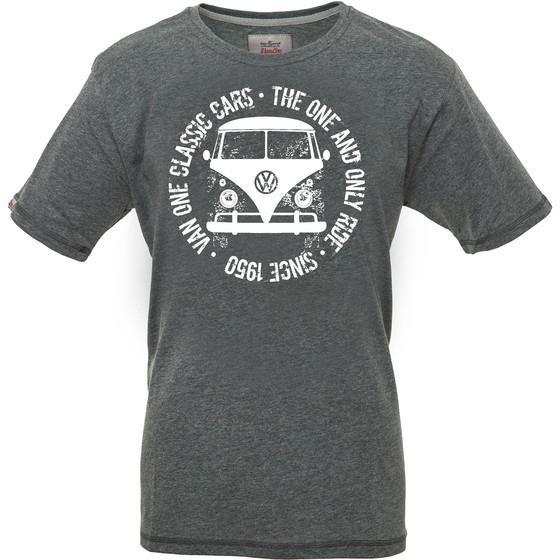 Van One Bulli Face Used Bulli T-Shirt dark grey white für Herren