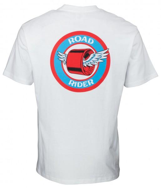 Santa Cruz Road Rider White T-Shirt für Herren
