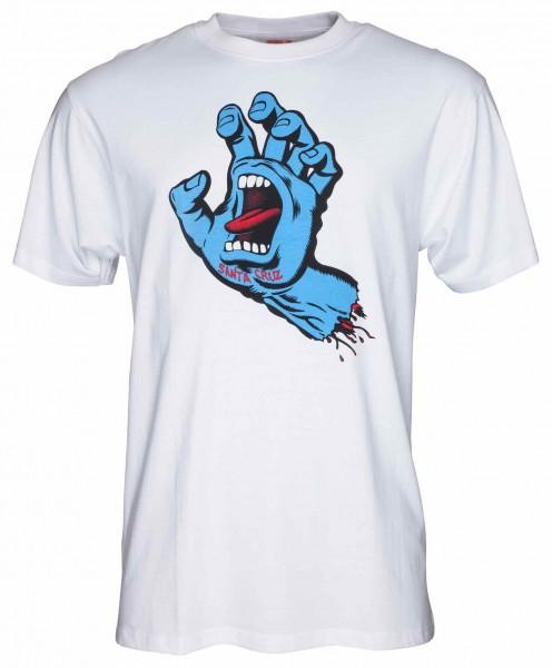 Santa Cruz Screaming Hand white T-Shirt für Herren