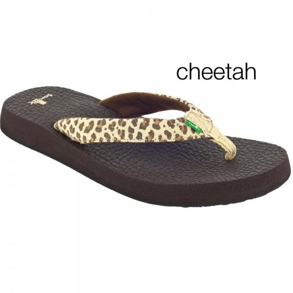 Flip Flops Sanük Women's Yoga Wildlife Cheetah 36
