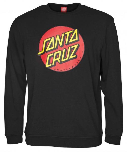 Santa Cruz Classic Dot Black Sweatshirt für Herren