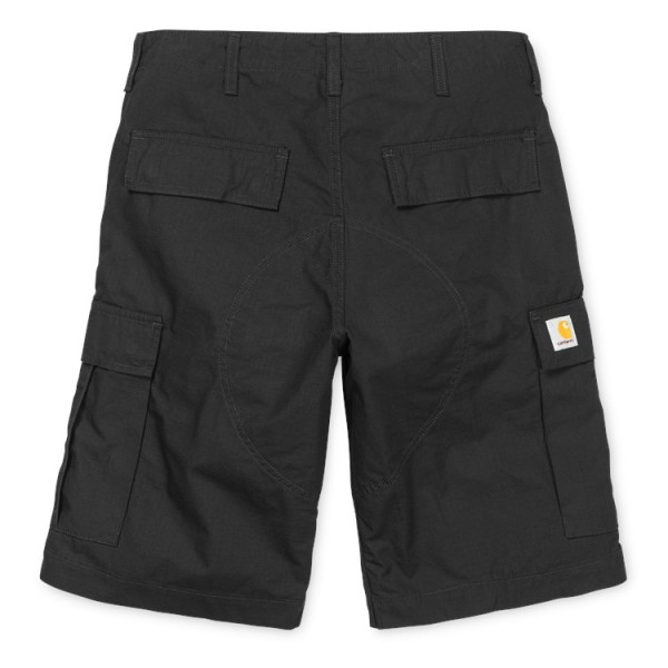 Carhartt WIP Regular Cargo Short Black Rinsed