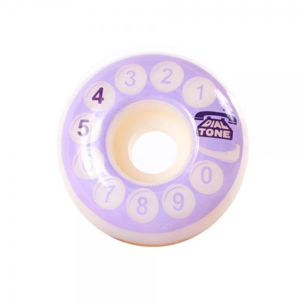 Dial Tone Rotary Classic Standard Wheels 101a Purple 54mm Skateboard Rollen (Satz)