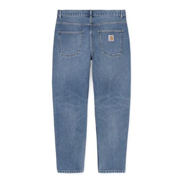 Carhartt WIP Newel Pant Cotton Blue Worn Bleached